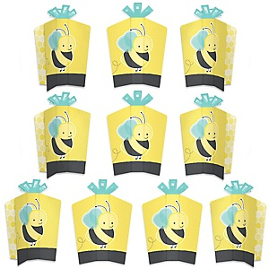 Honey Bee - Table Decorations - Baby Shower or Birthday Party Fold and Flare Centerpieces - 10 Count