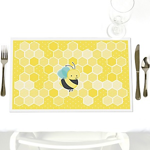 Honey Bee - Party Table Decorations - Party Placemats - Set of 12