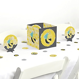 Honey Bee - Baby Shower or Birthday Party Centerpiece and Table Decoration Kit