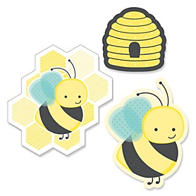 Honey Bee - DIY Shaped Party Paper Cut-Outs - 24 ct