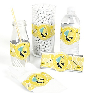 Honey Bee - DIY Party Wrappers - 15 ct