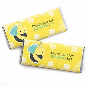 Honey Bee -  Candy Bar Wrapper Baby Shower or Birthday Party Favors - Set of 24