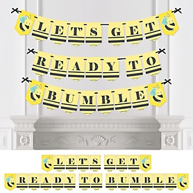 Honey Bee - Baby Shower or Birthday Party Bunting Banner - Party Decorations - Let's Get Ready To Bumble