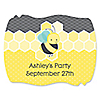 Honey Bee - Personalized Party Squiggle Stickers - 16 ct