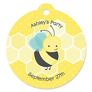 Honey Bee - Personalized Party Tags - 20 ct