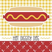 summer bbq hot diggity dog personalized everyday party candy boxes. Black Bedroom Furniture Sets. Home Design Ideas