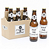 The Best Husbands Get Promoted to Daddy - 6 Custom Pregnancy Announcement Beer Bottle Labels and 1 Carrier