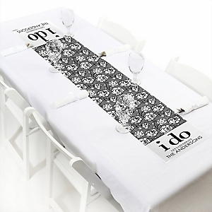 I Do - Personalized Wedding Petite Table Runner