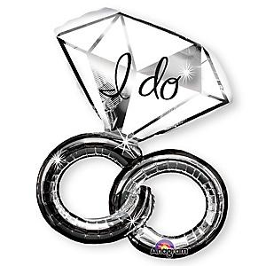 I Do Engagement Ring - Mylar Balloon