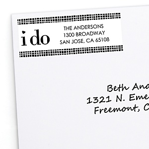 I Do - Personalized Wedding Return Address Labels - 30 ct