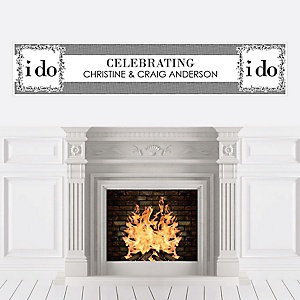 I Do - Personalized Wedding Banner