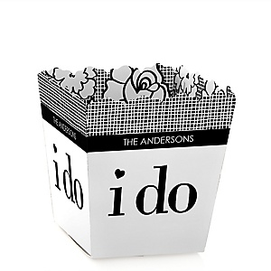 I Do - Party Mini Favor Boxes - Personalized Wedding Treat Candy Boxes - Set of 12