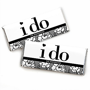 I Do - Personalized Candy Bar Wrappers Wedding Favors - Set of 24