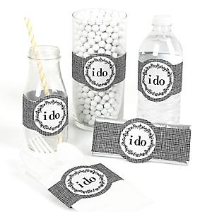 I Do - DIY Wedding Wrappers - 15 ct