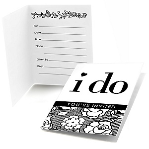 I Do - Bridal Shower Fill In Invitations - 8 ct