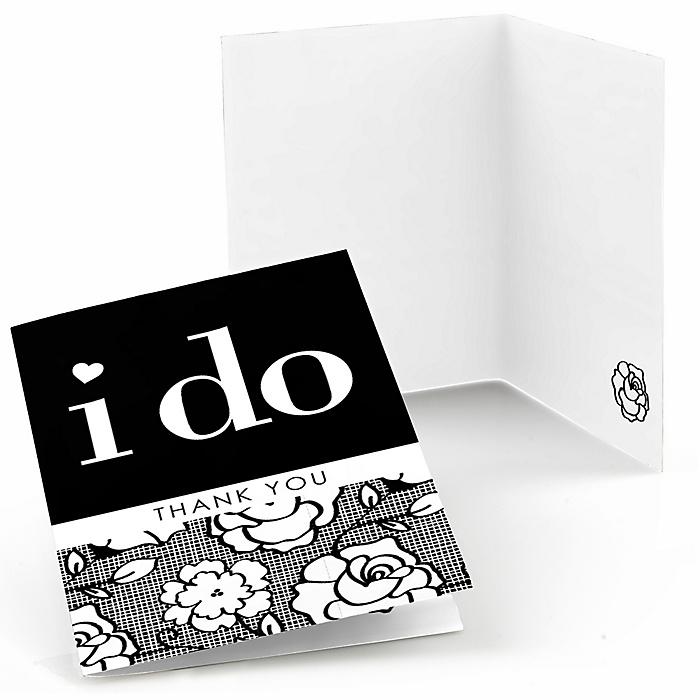 I Do - Wedding Thank You Cards - 8 ct