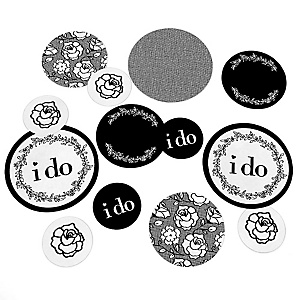 I Do - Wedding Giant Circle Confetti - Wedding Decorations - Large Confetti 27 Count