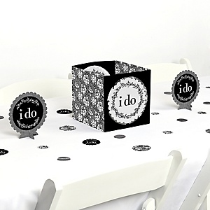 I Do - Wedding or Bridal Shower Centerpiece and Table Decoration Kit
