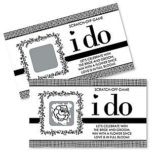 I Do - Bridal Shower Scratch Off Cards - 22 ct