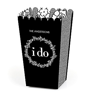 I Do - Personalized Wedding Popcorn Favor Treat Boxes - Set of 12