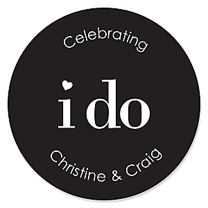 I Do - Personalized Wedding Sticker Labels - 24 ct