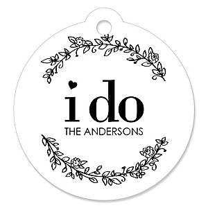 I Do - Personalized Wedding Tags - 20 ct