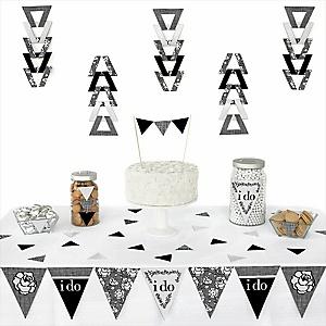 I Do -  Triangle Wedding Decoration Kit - 72 Piece
