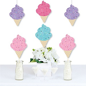 Scoop Up The Fun - Ice Cream - Decorations DIY Sprinkles Party Essentials - Set of 20