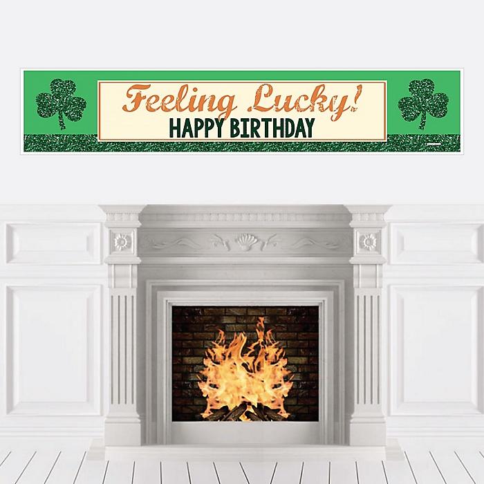 Irish Birthday - Shamrock Birthday Party Decorations Party Banner