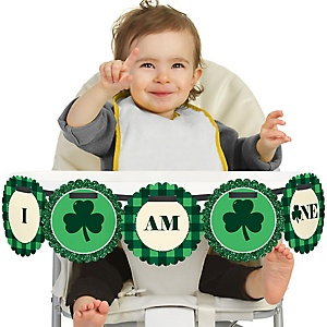 Irish Birthday 1st Birthday - I Am One - First Birthday High Chair Banner