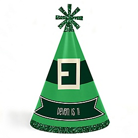 Irish Birthday - Personalized Cone Happy Birthday Party Hats for Kids and Adults - Set of 8 (Standard Size)