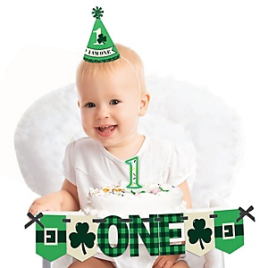 Irish Birthday 1st Birthday - First Birthday Boy or Girl Smash Cake Decorating Kit - High Chair Decorations