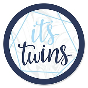 It's Twin Boys - Blue Twins Baby Shower Theme
