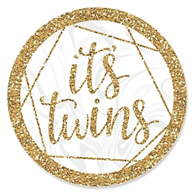 It's Twins - Gold Twins  Baby Shower Theme