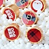 Jolly Santa Claus - Round Candy Christmas Labels Party Favors - Fits Hershey's Kisses - 108 ct