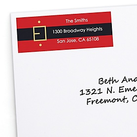 Jolly Santa Claus - 30 Personalized Christmas Return Address Labels
