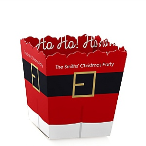 Jolly Santa Claus - Party Mini Favor Boxes - Personalized Christmas Party Treat Candy Boxes - Set of 12