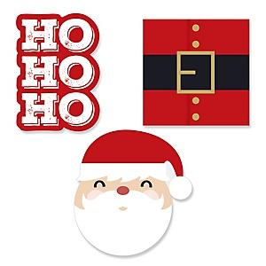 Jolly Santa Claus - DIY Shaped Christmas Party Paper Cut-Outs - 24 ct