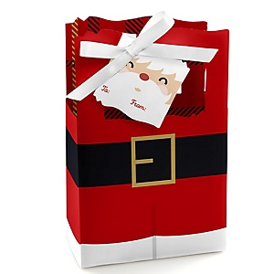 Jolly Santa Claus - Christmas Party Favor Boxes - Set of 12