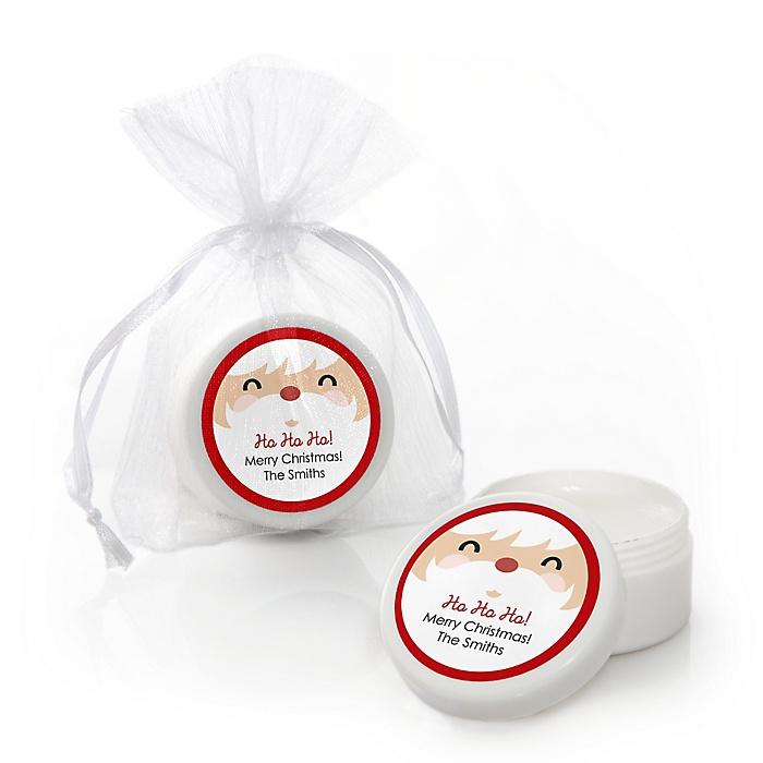 Jolly Santa Claus - Personalized Christmas Lip Balm Favors - Set of 12