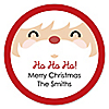 Jolly Santa Claus - Christmas Party Sticker Labels - 24 ct