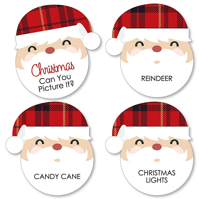 Jolly Santa Claus - Holiday & Christmas Party Game - Can You Picture It Card Game - Set of 24