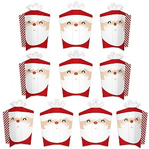 Jolly Santa Claus - Table Decorations - Christmas Party Fold and Flare Centerpieces - 10 Count