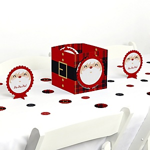 Jolly Santa Claus - Christmas Party Centerpiece and Table Decoration Kit