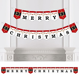 Jolly Santa Claus - Personalized Christmas Party Bunting Banner and Decorations