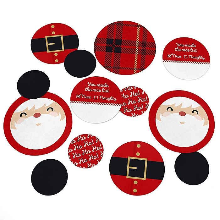 Jolly Santa Claus - Christmas Party Giant Circle Confetti - Santa Claus Party Decorations - Large Confetti 27 Count