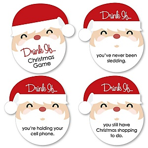 Drink If Game - Jolly Santa Claus - Christmas Party Game - 24 Count
