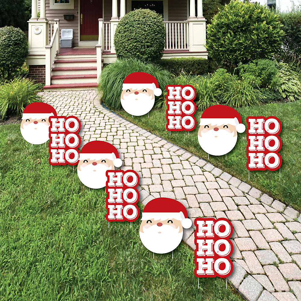 Outdoor Christmas Yard Decorations.Jolly Santa Claus Santa Claus Lawn Decorations Outdoor Christmas Yard Decorations 10 Piece