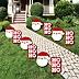 Jolly Santa Claus - Santa Claus Lawn Decorations - Outdoor Christmas Yard Decorations - 10 Piece