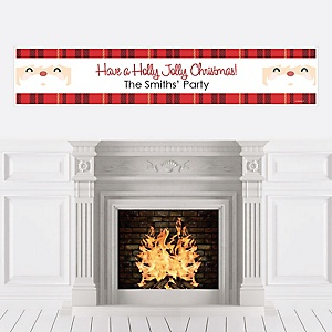 Jolly Santa Claus - Personalized Christmas Party Banner